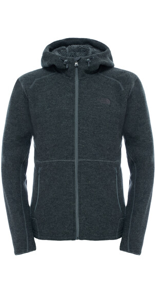 The North Face Zermatt Full Zip Hoodie Men Fusebox Grey Dark Heather